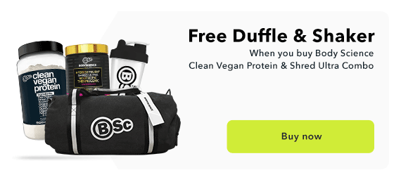 Body Science Clean Whey & Shred Ultra Free Duffle
