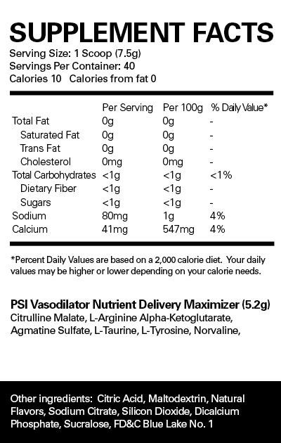 PSI Nutritional Info