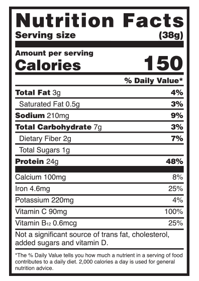 nutritional facts about Optimum Nutrition - Gold Standard 100% Plant