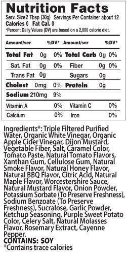 Sweet BBQ Nutrition Facts
